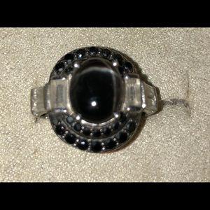 Black onyx type ring